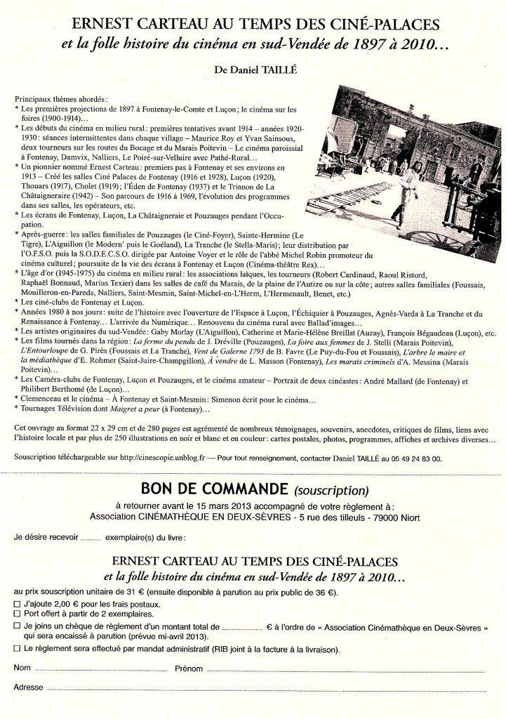 ERNEST CARTEAU AU TEMPS DES CINE-PALACES dans Informations taille